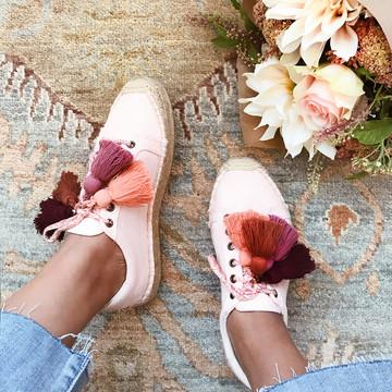 DIY Tassel Espadrille Sneakers