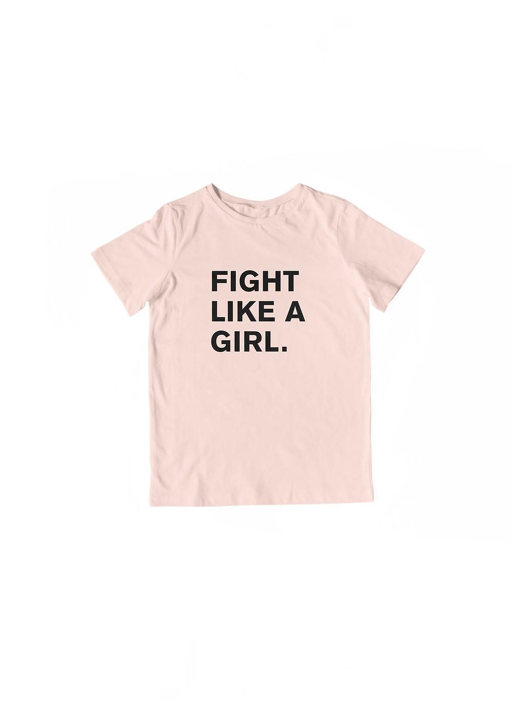 Eleven5_FightLikeAGirl_ShirtDesign_Kid_Pink