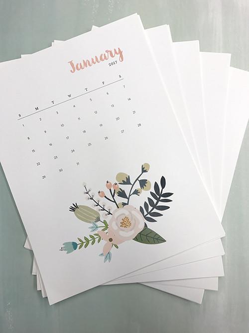 free-printable-floral-calendar-2017