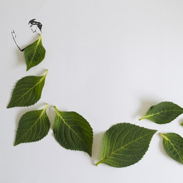 'Fashion in Leaf' by  Tang Chiew Ling