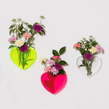 Queen of Hearts neon pink heart vase by LoveStar