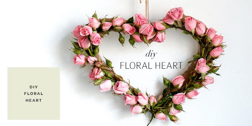 DIY FLORAL HEART