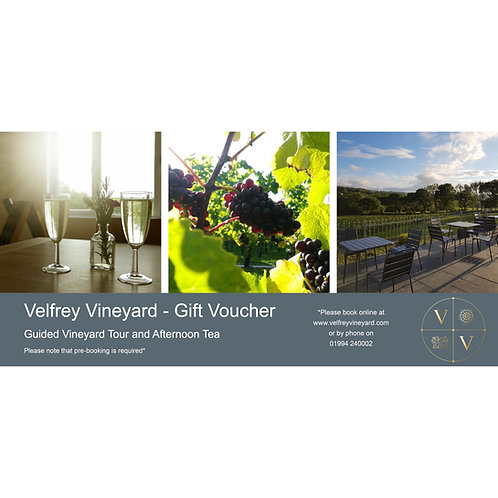 Gift Voucher - Guided Vineyard Tour and Afternoon Tea