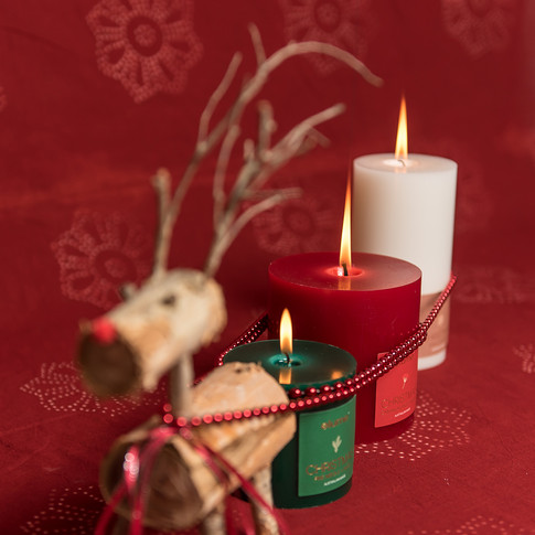 Elume Christmas Pillar Candle