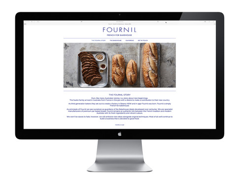 Fournil Website design