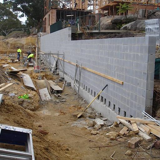 Water St Strormwater,slab,retaining wall