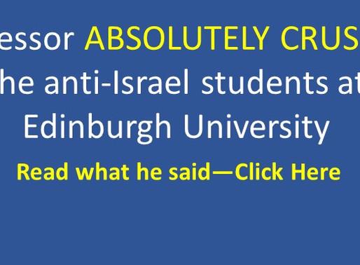 Amazing professor silences students against Israel