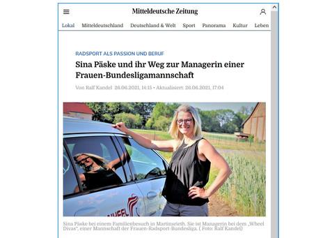 🇩🇪 Wheel Divas bei Deutschlandtour - Mitteldeutsche Zeitung berichtet