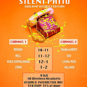 Silent Patio is back NEXT FRIDAY! Don't