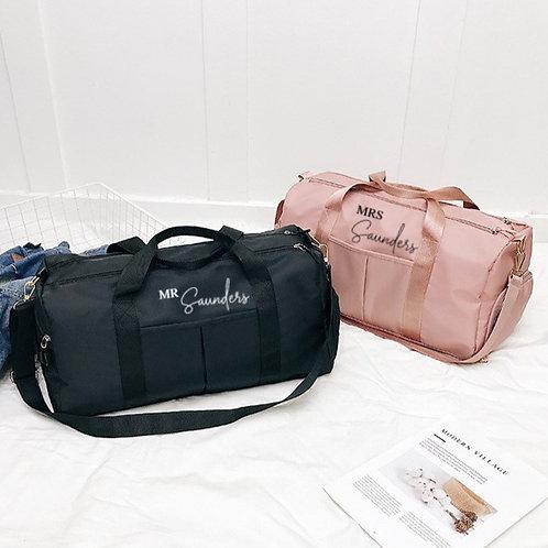 Personalised Couples Weekend Bag
