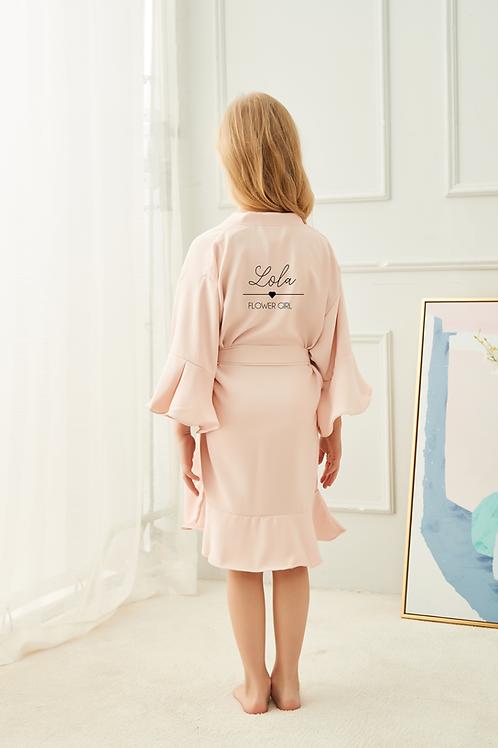 Bella Ruffle Childrens Robe