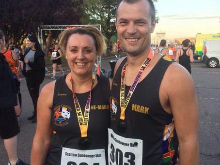 Three Counties Running Club making their 'Mark'