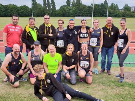 Three Counties Running Club pass the baton