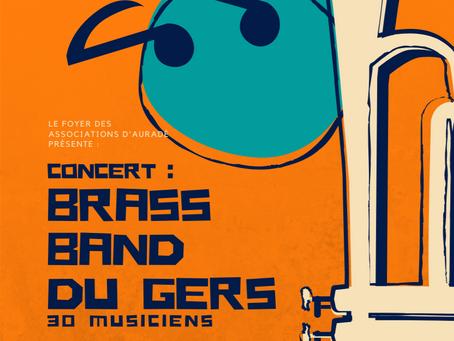 Concert du Brass Band du Gers à Auradé