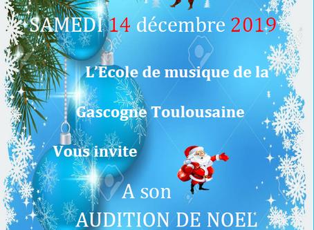 Audition de Noël de l'École de Musique