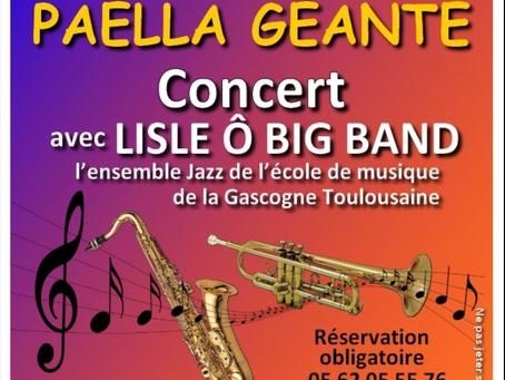 Paella Géant & Concert avec L'isle Ô Big Band