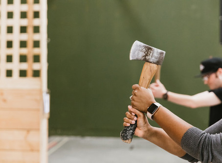 Do you have what it takes to hit the target? Test yourself at Delaware's competitive axe-throwing ve