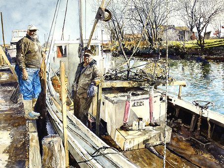 Local Artist Marc Castelli Captures the Grit of  Watermen on the Chesapeake Bay