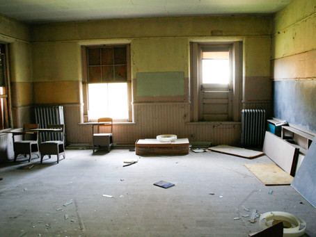 The forgotten, but not gone remnants of Golden Shore Christian School