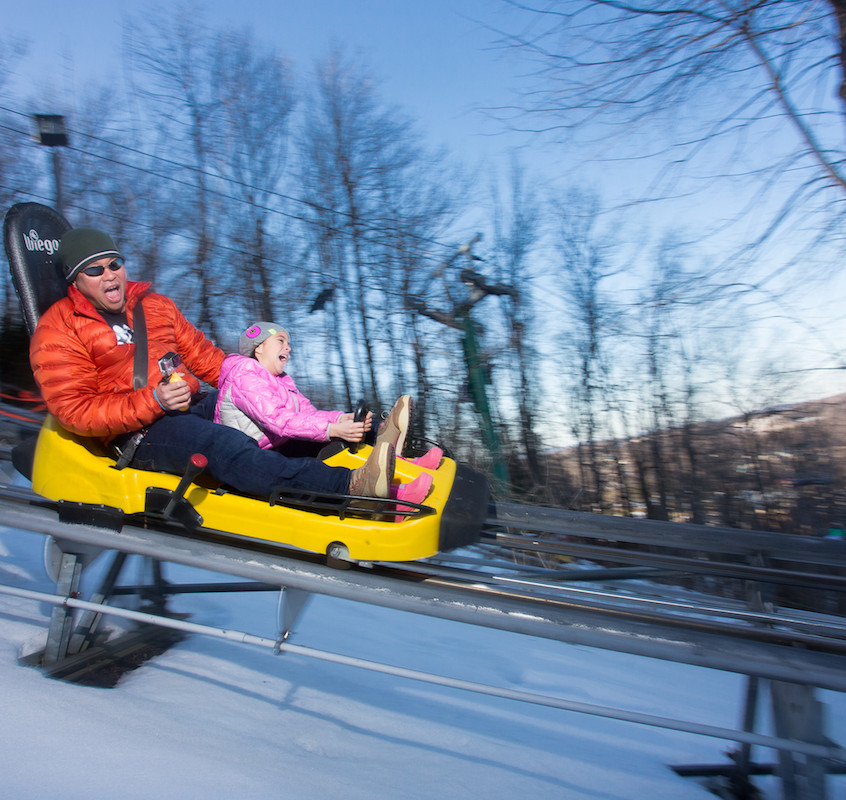 The Mountain Coaster at Wisp Resort is great for adults and kids.