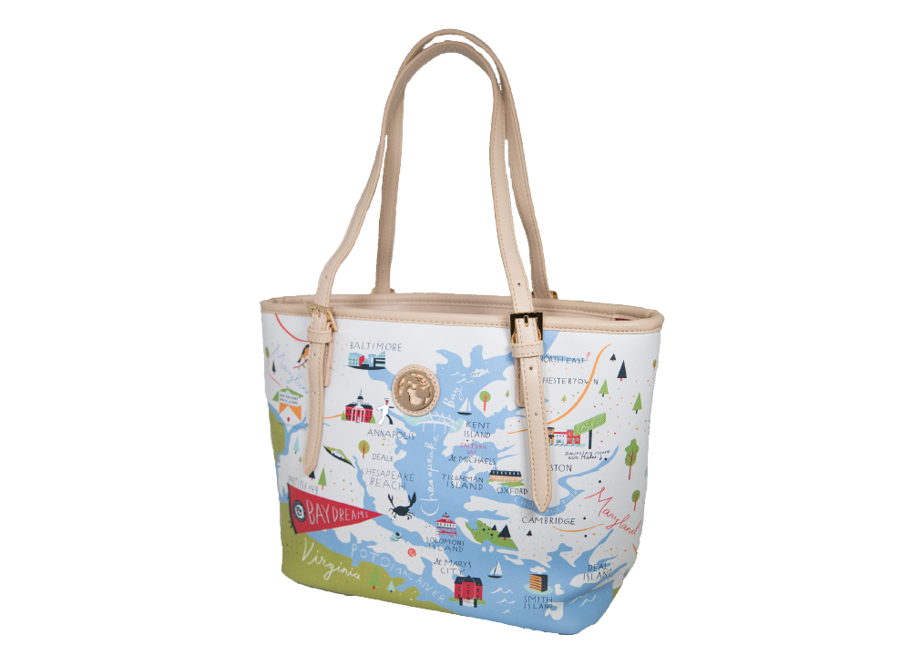 EASTERN SHORE MAP HANDBAG