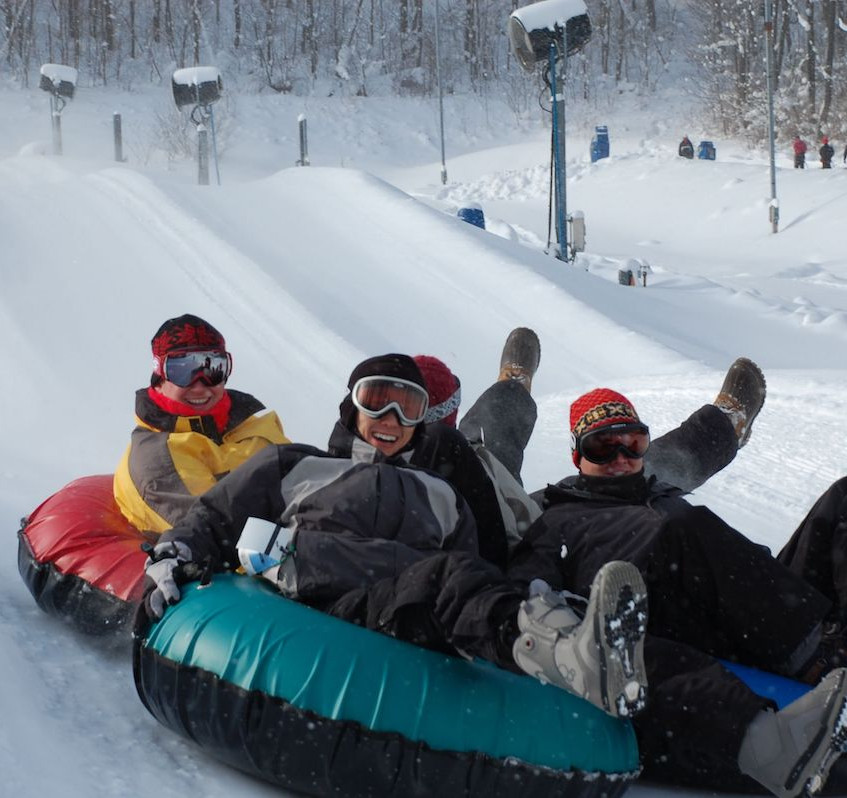 Snow Tubing is a popular alternative winter activity at Wisp Resort.