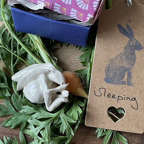Sleeping Hare (Antique White)