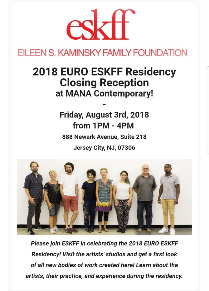 Closing Reception for my Residency at The Mana Contemporary with ESKFF
