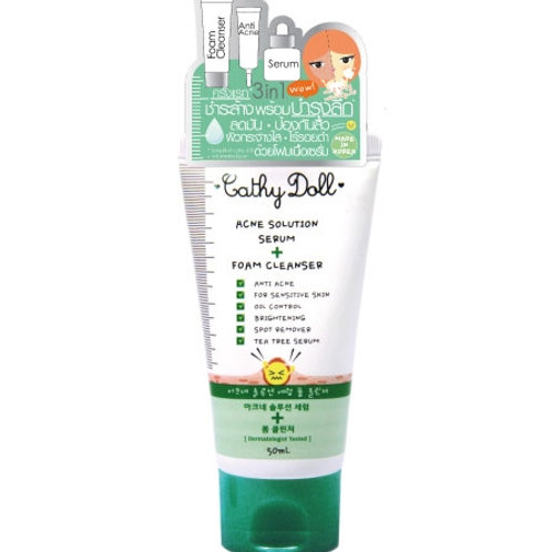 Cathy Doll Acne Solution Serum Foam 100ml