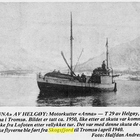 British pilots safed and transported on board Anna to Tromso in 1940