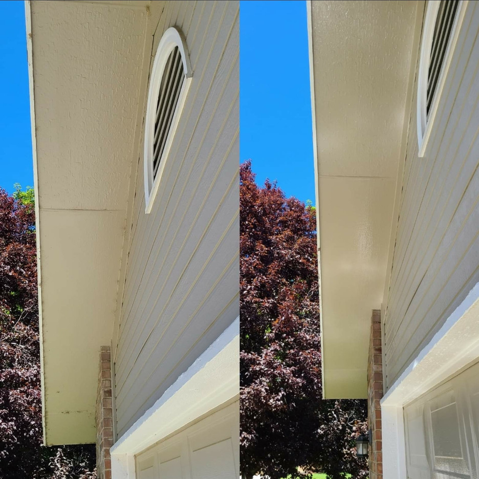 Soft Wash Under Eaves