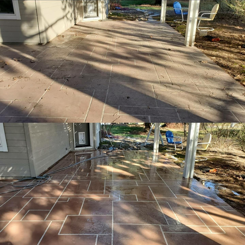 Walkway Power Wash