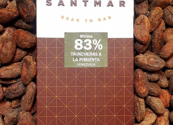 Chocolate Trincheras 83% a la pimienta