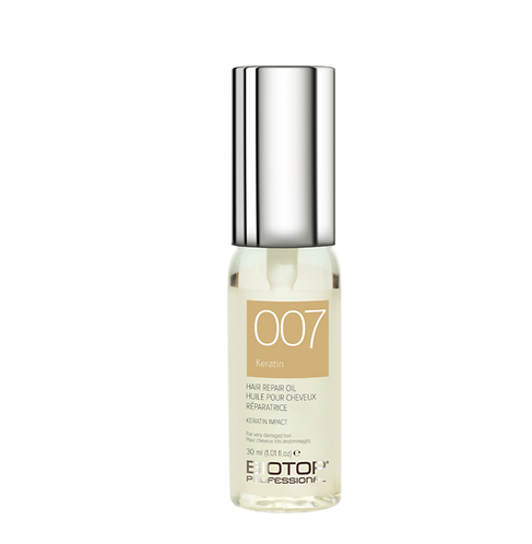 007 Keratin Hair Repair Oil set de tres ampollas