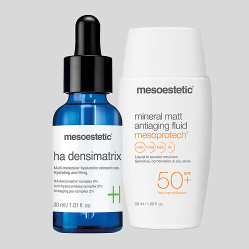 Ha densimatrix + Mesoprotech Mineral Matt Antiaging Fluid