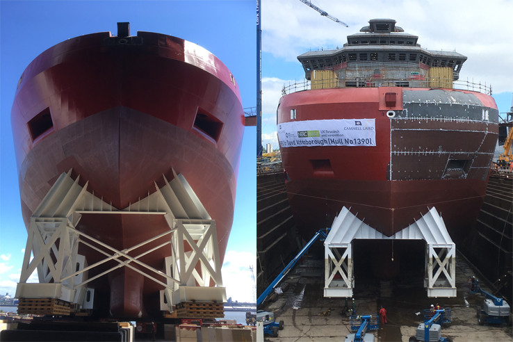 Protective coating used on marine vessel for temporary protection