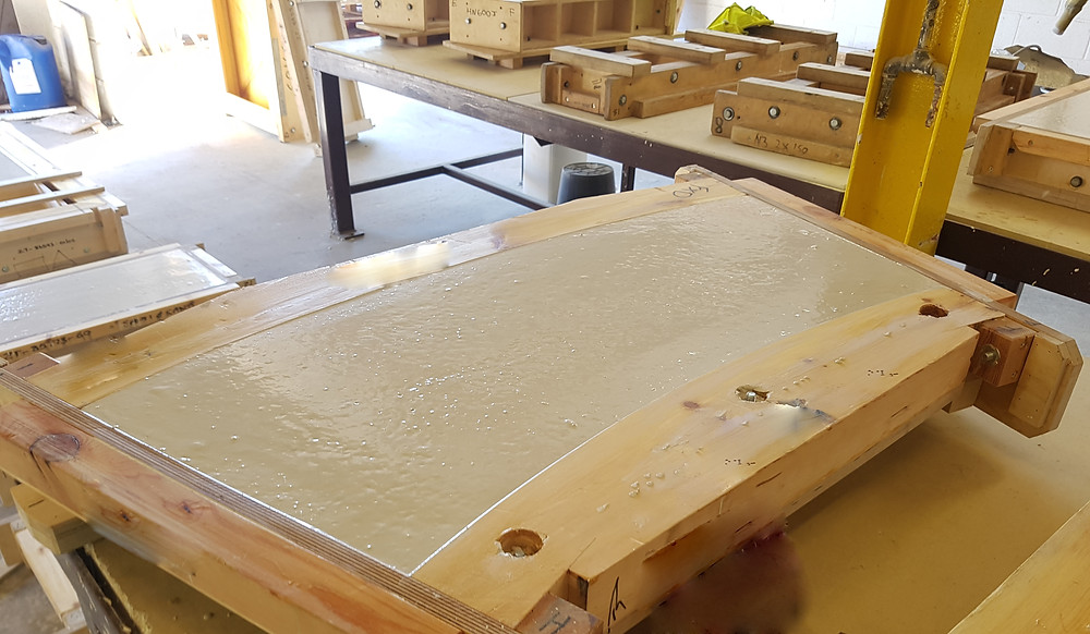 protective coating varnish for timber moulds being used with cast stone