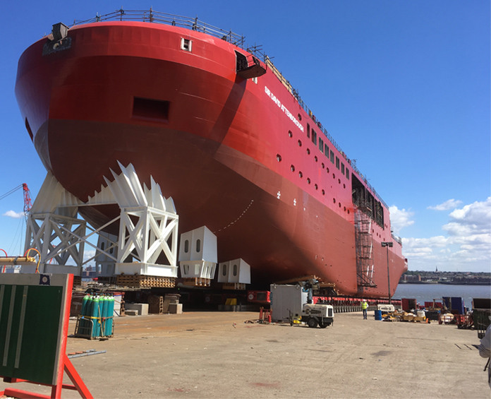 Protective Coating used to protect the ship against rust. The peelable coating was easily removed.