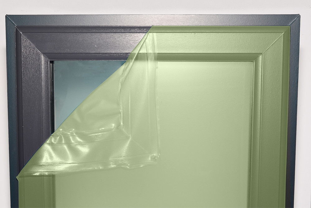 protective coating being peeled after used as window protection