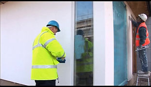 Protectapeel protecting windows against the elements of a construction site