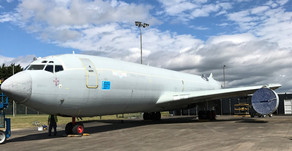 Protection Coating Trialed On Retired Boeing 707 Airframe