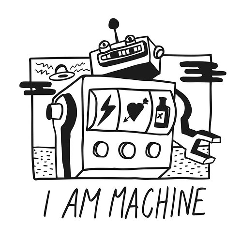 the fabulous I AM MACHINE  ep CD