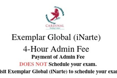 Exemplar Global (iNARTE) 4-Hour Admin Fee