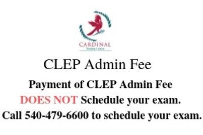 CLEP Admin FEE