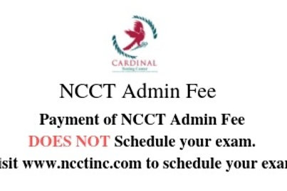 NCCT Admin Fee