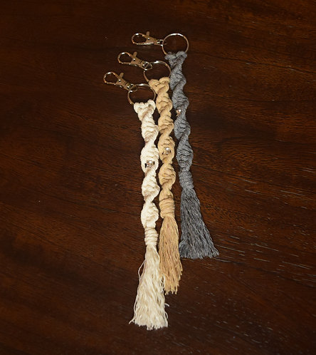 Twisted Keychains - Silver