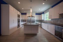 modern kitchen in custom home