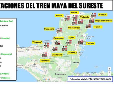Tren Maya impulsará el turismo en la Península de Yucatán