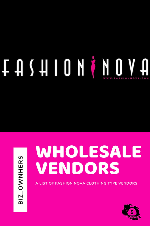 Fashion Nova Type Clothing Wholesalers