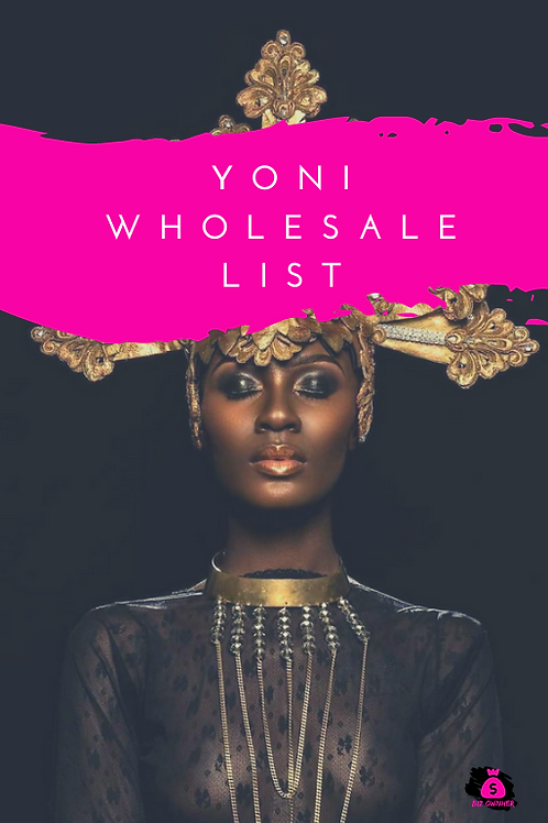 Yoni Wholesale List